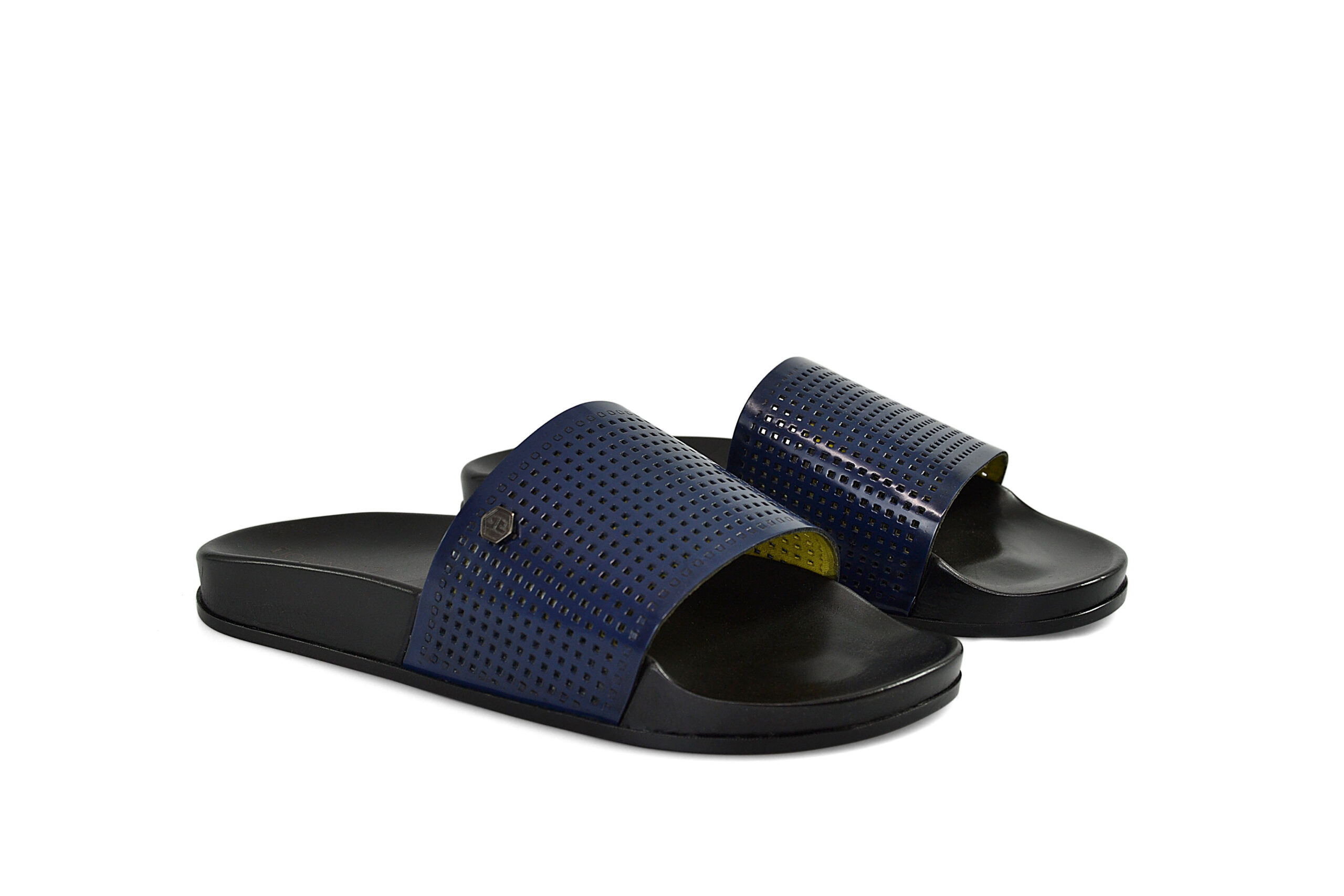 SHOES FIORANGELO MAN SS2021 ART. 92141 SANDALS ABRASIVATO BLUE TRAFORATO