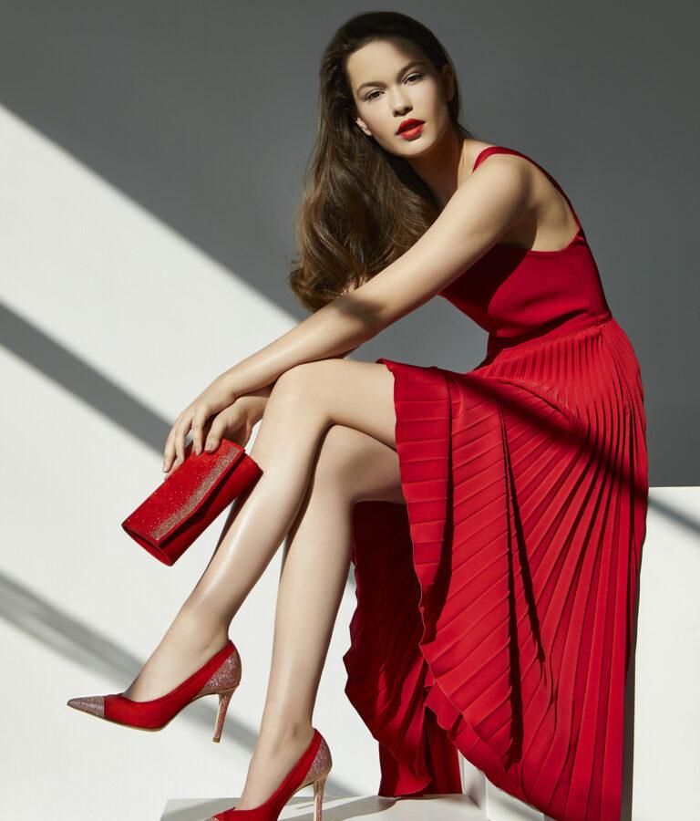 FIORANGELO collezione donna decolleté rossa ss20