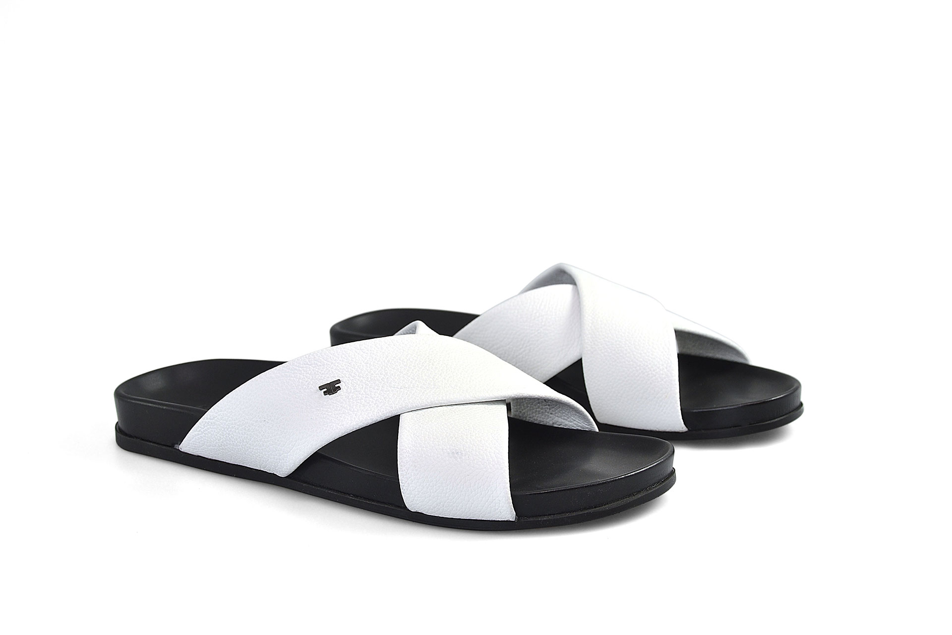SHOES FIORANGELO MAN SS2021 ART. 92142 SANDALS BOTTALATO BIANCO WHITE