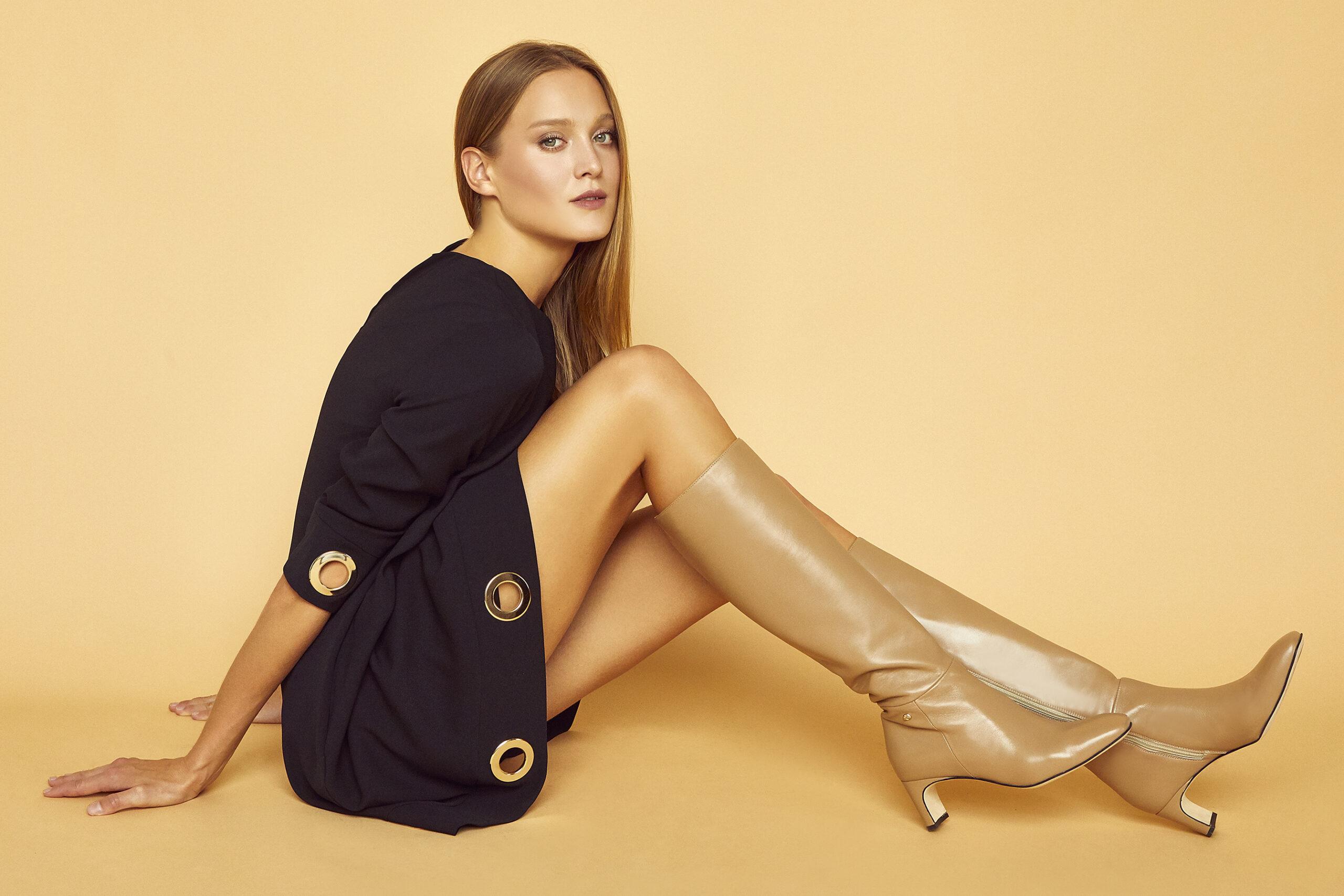 FIORANGELO collezione donna stivali beige fw20-21